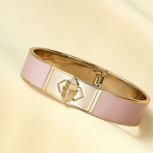 New-Stella & Dot Rebel Bangle - Blush